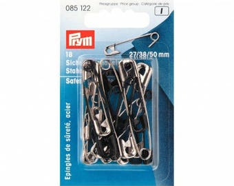 Assorted steel safety pins