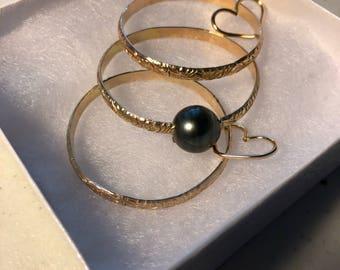 Hawaiian heirloom bracelet set (3), 4mm