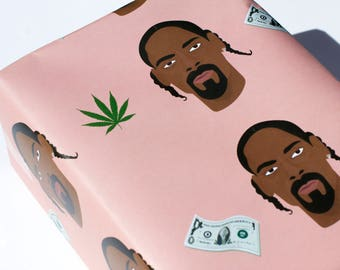 Snoop Dogg Wrapping Paper - Snoop Dogg Gift Wrap - Snoop Dogg - Wrapping Paper - Giftwrap - Presents - Gifts - Hip Hop - Rapping Paper