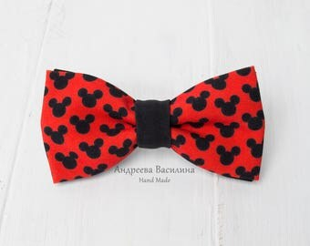 Mickey Mouse Bowtie Etsy