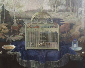 Still-life with cage