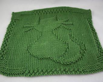 dishcloths, cotton dishcloths, hand knit dishcloths, knit dishcloths, green dishcloths, washcloths, hand knit washcloths, knit washcloths