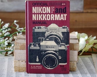 Official Nikon F and Nikkormat manual Vintage book Gift for photographers Amphoto 3rd