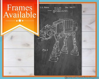 AT AT Star Wars Imperial Walker Poster Christmas Gift Holiday Present Star Wars Home Décor At At Wall Art Star Wars Poster At-At Print