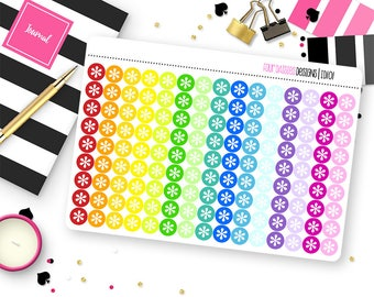 Custom Icon Dot Stickers for Erin Condren Life Planner, Plum Paper or Mambi Happy Planners