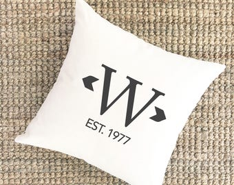 Monogrammed Pillow Cover | 40th Anniversary Gift Pillow Cover | 1st Anniversary Gift Personalized Pillows | Unique Wedding Gift for Couples