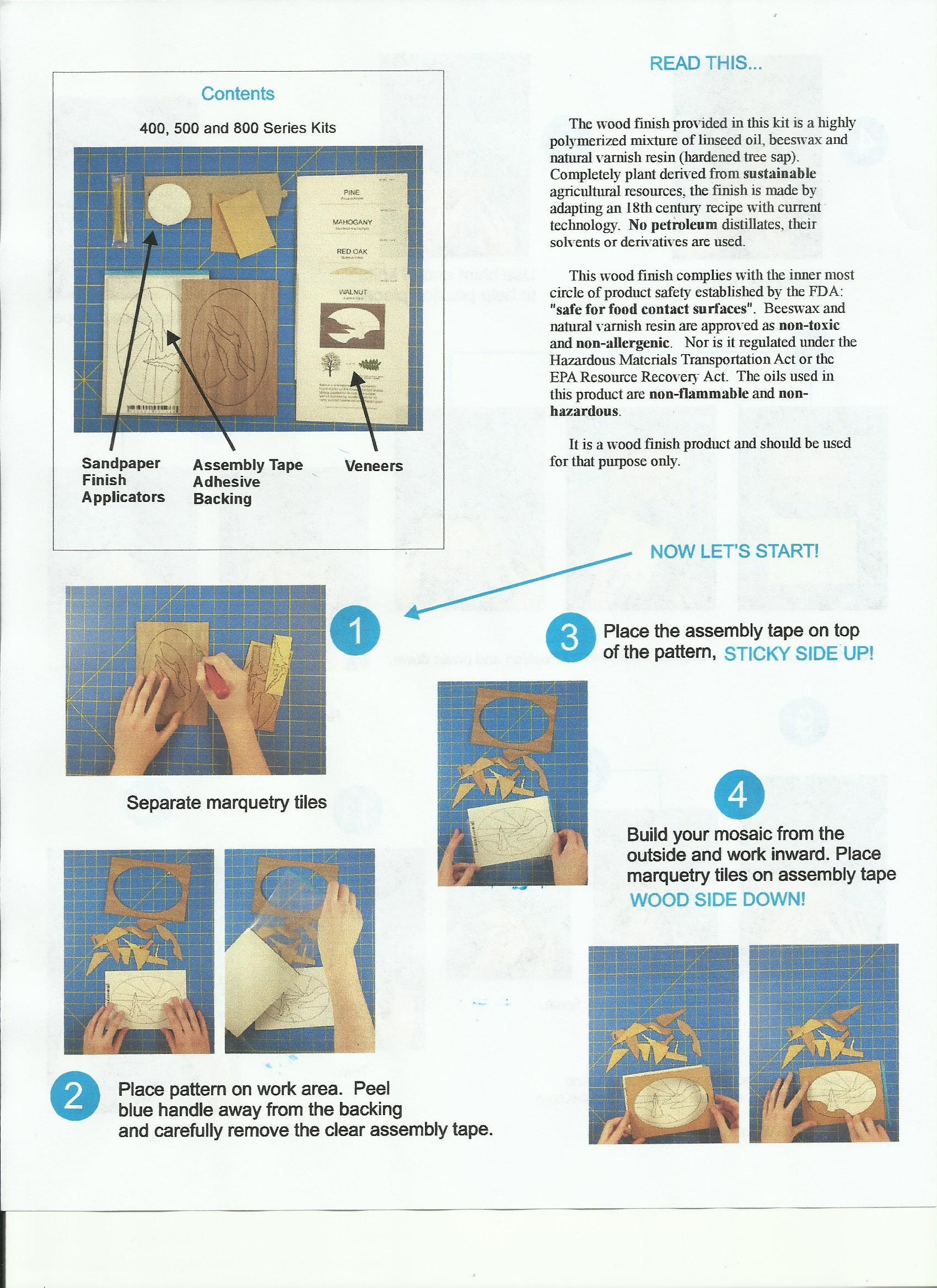 ez marquetry educator kit instructions a