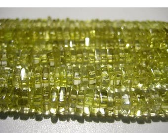 ON SALE 50% Lemon Quartz - 16 Inches Strand - Finest Quality Lemon Quartz Square Heishi Beads Size 5 mm approx, Natural stone Wholesale Pric