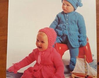 Original Vintage Patons 1250 Pattern, Vintage Knitting Pattern, Vintage Baby Pattern, Vintage baby knitting pattern