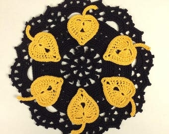 Crochet Autumn Leaf Appliqués - set of 6 (#06-30)