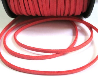 Coral look suede 3 mm suede cord 3 m