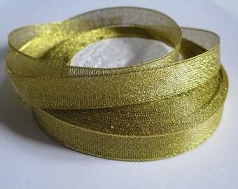 5 m organza Ribbon gold 12mm