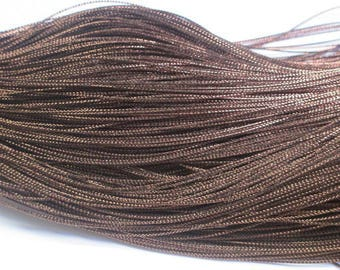 10 m Brown braided metal wire 0.8 mm
