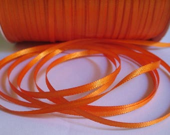 10 m orange 3mm satin ribbon