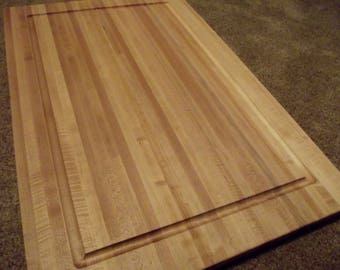 "Extra Large Hard Maple Butcher Block with Juice Groove.  2'x3'   1  1/4"" thick."