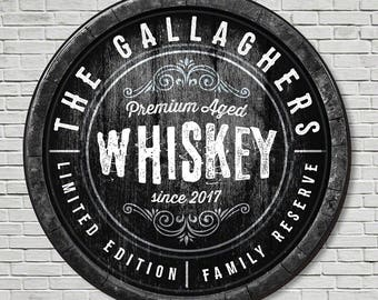 Family Reserve Custom Made Whiskey Sign- Home Bar Wall Decor for Men and Whiskey Lovers, Custom Signs
