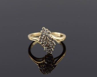 10k 0.30 CTW Diamond Cluster Ring Gold