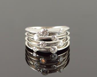 14k 1.00 CTW Moissanite Designer Offset Ring Gold