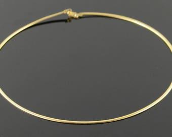 """14k 2.1mm Omega Link Necklace Gold 16.1"""""""
