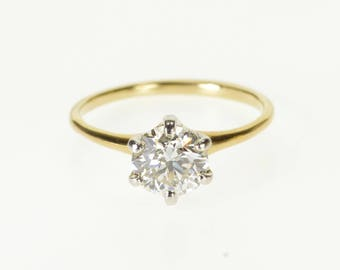 14k 1.05 Ct Round Diamond Solitaire Engagement Ring Gold
