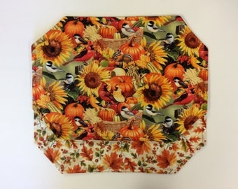 Autumn/Fall/Thanksgiving Reversible Placemats/ Set of 4