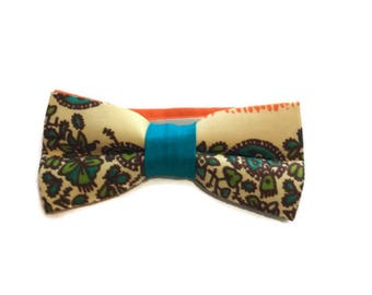 Pre-tied Mens African Print Bow tie And Pocket Square, AfroNeckties African Clothing, Wedding, Teen Gift, Ankara Fabric Bowtie