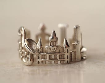 New Orleans Cityscape - Skyline Statement Ring - Mother of the Bride Gift - Mother Gift - Unique Wedding Gift - Mothers Day