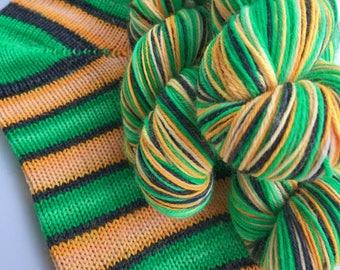 Hand dyed self striping merino sock yarn - Candy Hangover