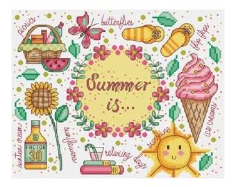 Summer Is Sampler - Durene J Cross Stitch - DJXS2259