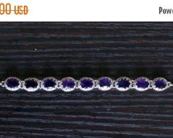 ON SALE Elegant Amethyst Silver Bracelet