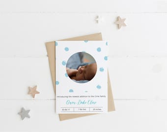 Baby Announcement Postcard