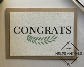 Congrats Card | Congratulations Card | Graduation Card | Graduation Gift | New Job Gift