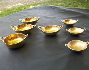 Ring Dish, Trinket Dish, Jewelry Dish, Brass Ring Dish, Set Of 7 Brass Trinket Dishes, Jewelry Holders