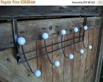 ON SALE Hanging Coat Rack, Metal Coat Rack, Clothing Rack, Coat Rack, Hat Rack, Vintage Coat Rack, Vintage Hat Rack