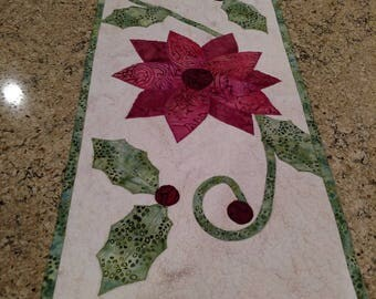 Quilted Winter Table Runner