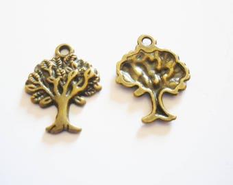 2 pendant tree of life pattern