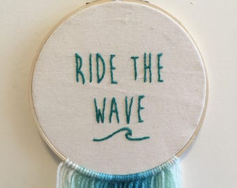 Ride the Wave Wall Hanging
