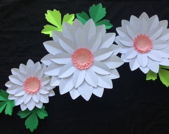 Large paper daisy, backdrop flowers, wedding flowers, nursery flowers , baby shower decor, bridal shower event flowers
