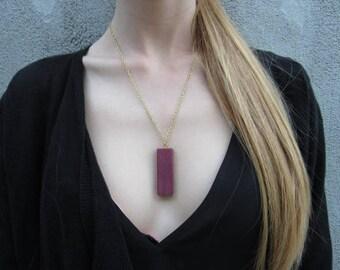 Simple Purple Heart Necklace