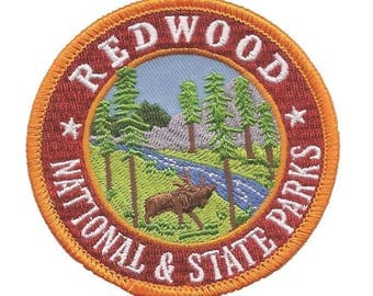 California Redwood National Park and State Park Patch (Iron on)