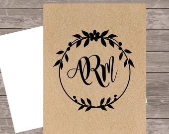 Personalized stationery set/Monogram Notecard/Monogram Note Card/Personalized stationery, custom notecard