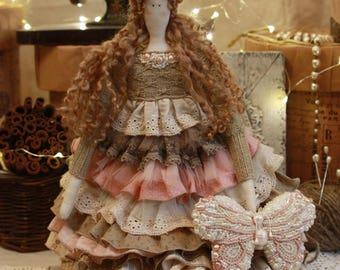 Doll handmade tilda Rosalie for SANDY