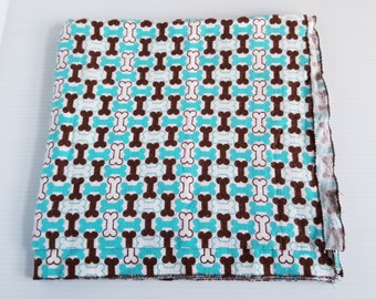 Dog Lover Flannel Baby Blanket, Receiving Blanket, Flannel Blanket, Baby Blanket, Dog Bone Print Blanket-Ready to Ship
