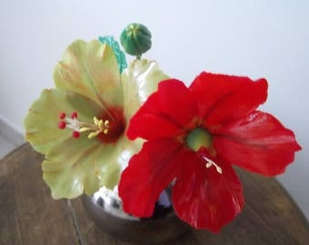 Ultra thin realistic hibiscus flowers