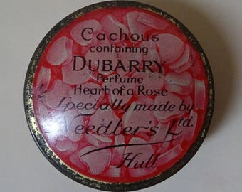 Vintage Art Deco 1920s/20s 1930s/30s Needlers Dubarry CACHOUS TIN Boudoir Display
