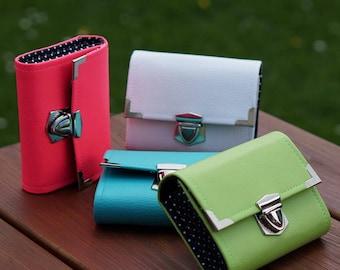 Women Wallet, Vegan Wallet, Size 13x10cm, Small Wallet, Women's Wallet, Leatherette Wallet, Fabric Wallet, Purse