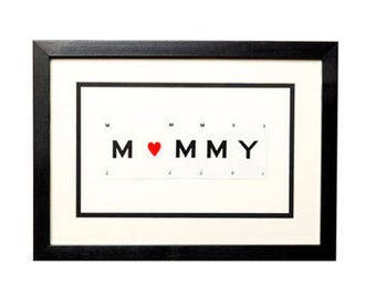 Mummy Frame With Heart by VINTAGE PLAYING CARDS