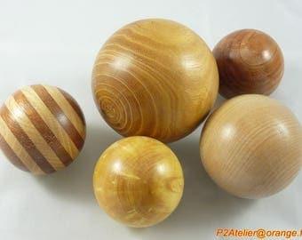 """Sphere / ball deco wooden turned """"custom"""""""