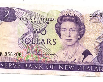 New Zealand 2 Dollars Bank Note (1981-92)