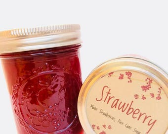 Strawberry Jam, Maine Strawberries, Maine Made, half pint